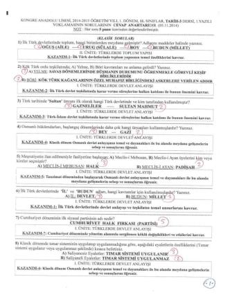 05.11.2014 11. Sınıflar