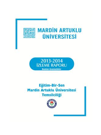 2013 – 2014 Mardin Artuklu Üniversitesi İzleme Raporu