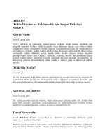 HIRE 237 Ders Notları 1