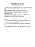 Nisan 2014 Yönetim Kurulu Toplantı Özeti
