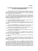 2013 Yılı Genel Raporu Hakkında TBMM Başkanlığı Açıklaması