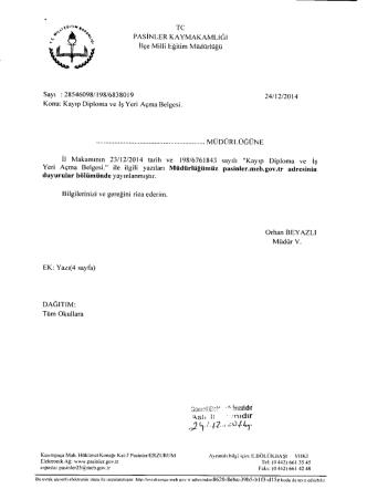 403 - Pasinler İlçe Milli Eğitim Müdürlüğü