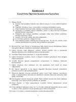 Komisyon 4 - V. Milli Eğitim Şurası