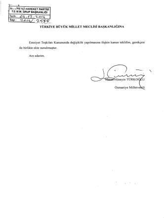 2-- VE ı - Türkiye Büyük Millet Meclisi