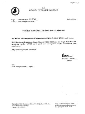 Cevap - Türkiye Büyük Millet Meclisi
