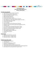 İSTEK ANAOKULLARI 2014-2015 EĞİTİM ÖĞRETİM YILI İHTİYAÇ