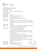 STGM XII. Danışma Kurulu Programı 18 Aralık 2014, Perşembe 19