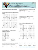 Kazanım: Doğrusal denklemleri ve grafikleri açıklar. 1. 3x