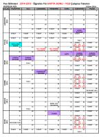 YGS Çalışma Takvimi - Fen Bilimleri Dershanesi