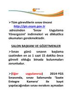 YGS 2014 Duyuru 1