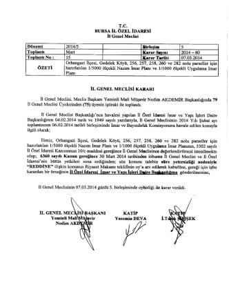 07.03.2014 Meclis Kararı 80