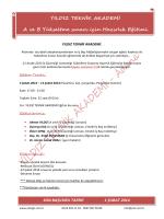 YILDIZ TEKNİK AKADEMİ A ve B Yükseltme sınavı için Hazırlık Eğitimi
