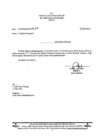 9 (ı ö 9 23/10/2014 - mersin - mezitli ilçe millî eğitim müdürlüğü