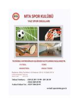 2014 MTA Yaz Spor Okulu