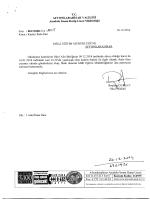 Müdürlüğümüzün konu ile ilgili ihale ilanı yazısı.