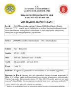 yds hazırlık programı - Yabancı Diller Bölümü