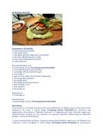 MERCİMEK BURGER Malzemeler (10 kişilik): 10 adet hamburger
