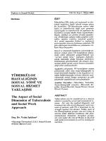 TÜBERKÜLOZ HASTALIĞININ - Herkes İçin Sosyal Hizmet