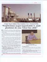 Şantiye Dergisi (Kasım 2010-CENGİZ Röportaj)