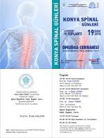 TNDer Konya Spinal Günleri 2. Dönem 4. Toplantı