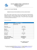 26 Ocak 2015 Tarihli Merkez Bankası Senedi İhale Sonuçları