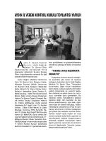 Mücadele-Aydın İl Verem Kontrol Kurulu toplantısı yapıldı.