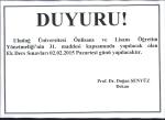 DUYURU! - Uludağ Üniversitesi