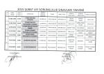 2015 şubat ayı sorumluluk sınavları takvimi