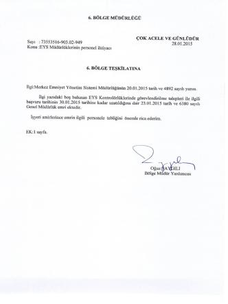 28.01.2015 - TCDD 6. Bölge
