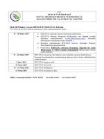 Ara Staj Takvimi - Düzce Üniversitesi Sosyal Bilimler Meslek