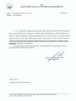 (EBYS) üst yazısı için tıklayınız... - Abant İzzet Baysal Üniversitesi