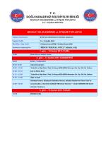 Program 13-15 Şubat 2015 Rize - Doğu Karadeniz Belediyeler Birliği