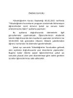 ÖNEMLİ DUYURU Yükseköğretim Kurulu Başkanlığı 06.02.2015