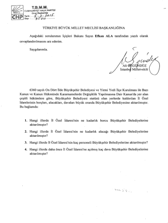 cuMHuRIYET HALK PARTlsI - Türkiye Büyük Millet Meclisi