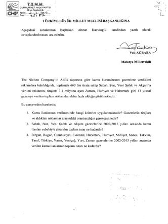 , TBMM. o ` - Türkiye Büyük Millet Meclisi