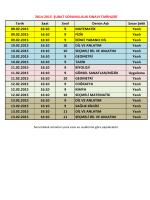 Tarih Saat Sınıf Dersin Adı Sınav Şekli 09.02.2015 16:10 9