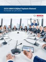 CCS 1000 D Dijital Toplantı Sistemi Kompakt ve çok yönlü