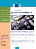 Avrupa`da Okulları Finanse Etmek: Mekanizmalar - EACEA