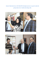 Genel Sekreterimiz Ali BALKİS Kütüphanemizi ziyaret ederek