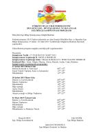 Ege Bölge Şampiyonası Programı