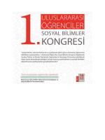 1. Uluslararasi Sosyal Bilimler Kongresi
