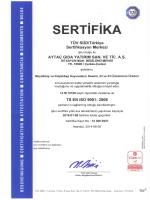 aytaç ISO 9001 Certificate