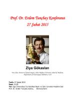 Prof. Dr. Erdem Tunçbay Konferansı