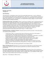 Hastanın Adı Soyadı : Protokol No : Sayın Hastamız, Tıbbi