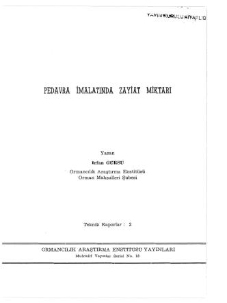 018 - Doğu Karadeniz Ormancılık Araştırma Enstitüsü Müdürlüğü