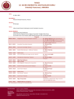 TKRCD 12. SELİM ANOREKTAL HASTALIKLAR KURSU Onkoloji