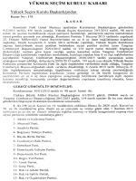 Yüksek Seçim Kurulunun 13/2/2015 Tarihli ve 175