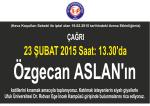 (Hava Koşulları Sebebi ile iptal olan 19.02.2015 tarihindeki Anma