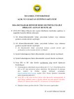 istanbul üniversitesi açık ve uzaktan eğitim fakültesi 2014