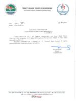 Salon Tahsisleri - Türkiye Masa Tenisi Federasyonu